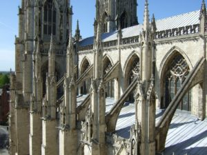 Flying buttresses at Notre Dame