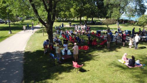 Large group at picnic